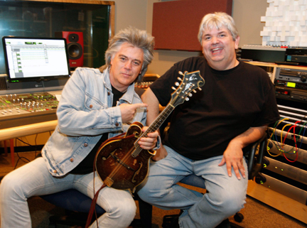 Dave and Marty Stuart recording at Kingswood Studios, Nashville.