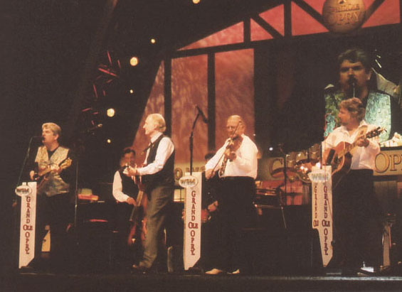 Dave with his family perform at the Grand Ole Opry