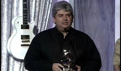 Dave accepting his Dove Award