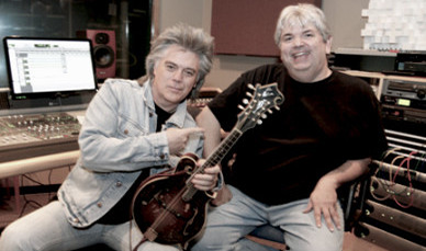 Dave in the studio with Marty Stuart